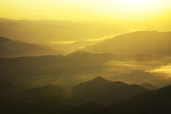Mountain landscape. High mountains during sunrise. Beautiful natural landscape royalty free stock image