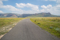 Mountain Landscape with Highway in Golden Gate Highlands Royalty Free Stock Photos
