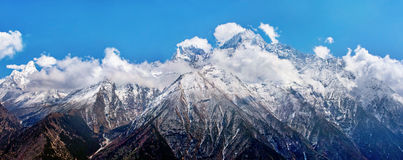 Mountain landscape in Himalayas. Kangtega and Thamserku, Nepal Royalty Free Stock Photography