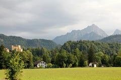 Mountain landscape with Hohenschwangau Castle Stock Photo