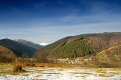 Mountain landscape from Horezu - Romania Stock Photography