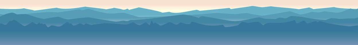 Mountain landscape horizontal Royalty Free Stock Image