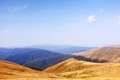 Mountain landscape in hot summer day Royalty Free Stock Photos