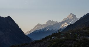 Mountain landscape, Hunza valley in Pakistan royalty free stock photo