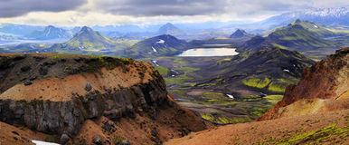Mountain landscape in Iceland. Colorful mountain landscape in Iceland Stock Images