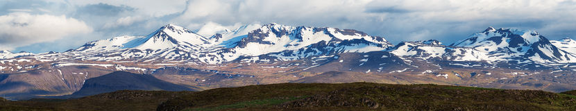 Mountain landscape in Iceland, panorama. Royalty Free Stock Images