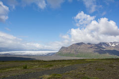 Mountain landscape in Iceland. Skaftafell national park. Royalty Free Stock Photo