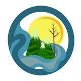 Mountain Landscape Icon Stock Photo