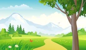 Mountain landscape. Illustration of a mountain landscape Stock Photos