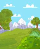 Mountain landscape. Illustration of idyllic mountain landscape Stock Image