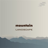Mountain landscape, the image of several mountains. Vector image Royalty Free Stock Photos