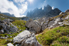 Mountain landscape - inaccessible peaks Stock Images