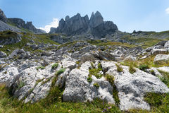 Mountain landscape - inaccessible peaks Stock Photos