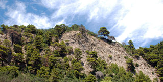 Mountain landscape of the island of Corfu.  Royalty Free Stock Images