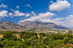 Mountain landscape at the island of Crete Royalty Free Stock Images