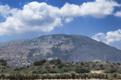 Mountain landscape on the island of Crete Royalty Free Stock Photo