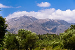 Mountain landscape at the island of Crete Stock Photography