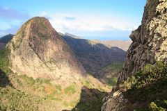 Mountain landscape of the island of La Gomera. Canary Islands. Spain. Mountain landscape of the island of La Gomera. Canary Islands stock photos