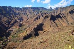 Mountain landscape of the island of La Gomera. Canary Islands. Spain. Mountain landscape of the island of La Gomera. Canary Islands royalty free stock photos