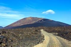 Mountain landscape on the island of Lanzarote Royalty Free Stock Photos