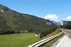 Mountain landscape  in Italian Alps during autumn Stock Photos