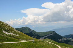 Mountain landscape of Italian Alps - Monte Baldo Stock Photos