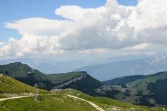 Mountain landscape of Italian Alps - Monte Baldo Stock Photography