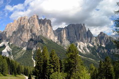 Mountain landscape, italian alps named dolomiti Royalty Free Stock Image