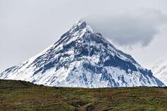 Mountain landscape of Kamchatka: view on Kamen Volcano royalty free stock photography