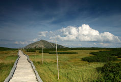 Mountain landscape from Karkonosze Mountains. Royalty Free Stock Photo