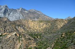 Mountain landscape in Kings Canyon National Park, CA, USA Royalty Free Stock Images