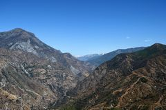 Mountain landscape in Kings Canyon National Park, CA, USA Stock Images