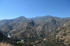 Mountain landscape in Kings Canyon National Park, CA, USA Stock Photography