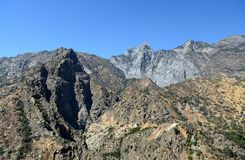 Mountain landscape in Kings Canyon National Park, CA, USA Royalty Free Stock Photography