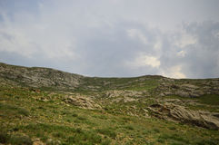 Mountain landscape,  Kyrgyzstan Royalty Free Stock Image