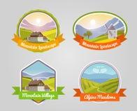 Mountain Landscape Label Stock Photos