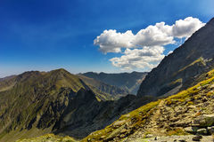 Mountain  landscape with lake. In Carpathian Royalty Free Stock Images