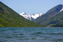 Mountain landscape with lake in Altai, Russia Royalty Free Stock Images