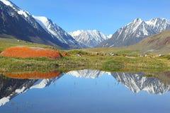 Mountain landscape with lake Stock Image