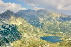 Mountain landscape with lake stock photo