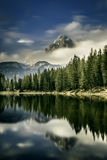 Mountain landscape with lake in the front Stock Photos