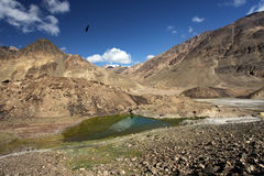 Mountain landscape with lake. Himalayas Stock Photography