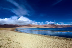 Mountain landscape with the lake. Himalayas Stock Photo