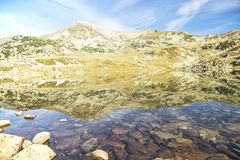 Mountain landscape with lake and mountain peak Royalty Free Stock Image
