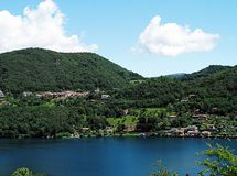 Mountain landscape and Lake Orta in Italy. Stock Photography