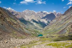 Mountain landscape with lake. Tien Shan Royalty Free Stock Images