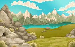 Mountain landscape with lake Stock Image