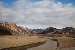 Mountain landscape , Landmannalaugar,Iceland, bright colorful vi Royalty Free Stock Images