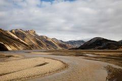 Mountain landscape , Landmannalaugar,Iceland, bright colorful vi Royalty Free Stock Photography