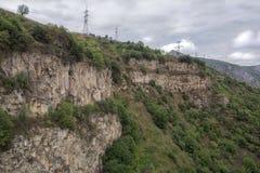 Mountain landscape. The landscape in Armenia (Tatev). Royalty Free Stock Photos